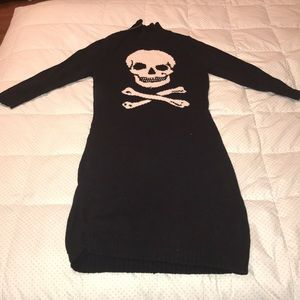 RARE Betsey Johnson Skull Sweater Dress